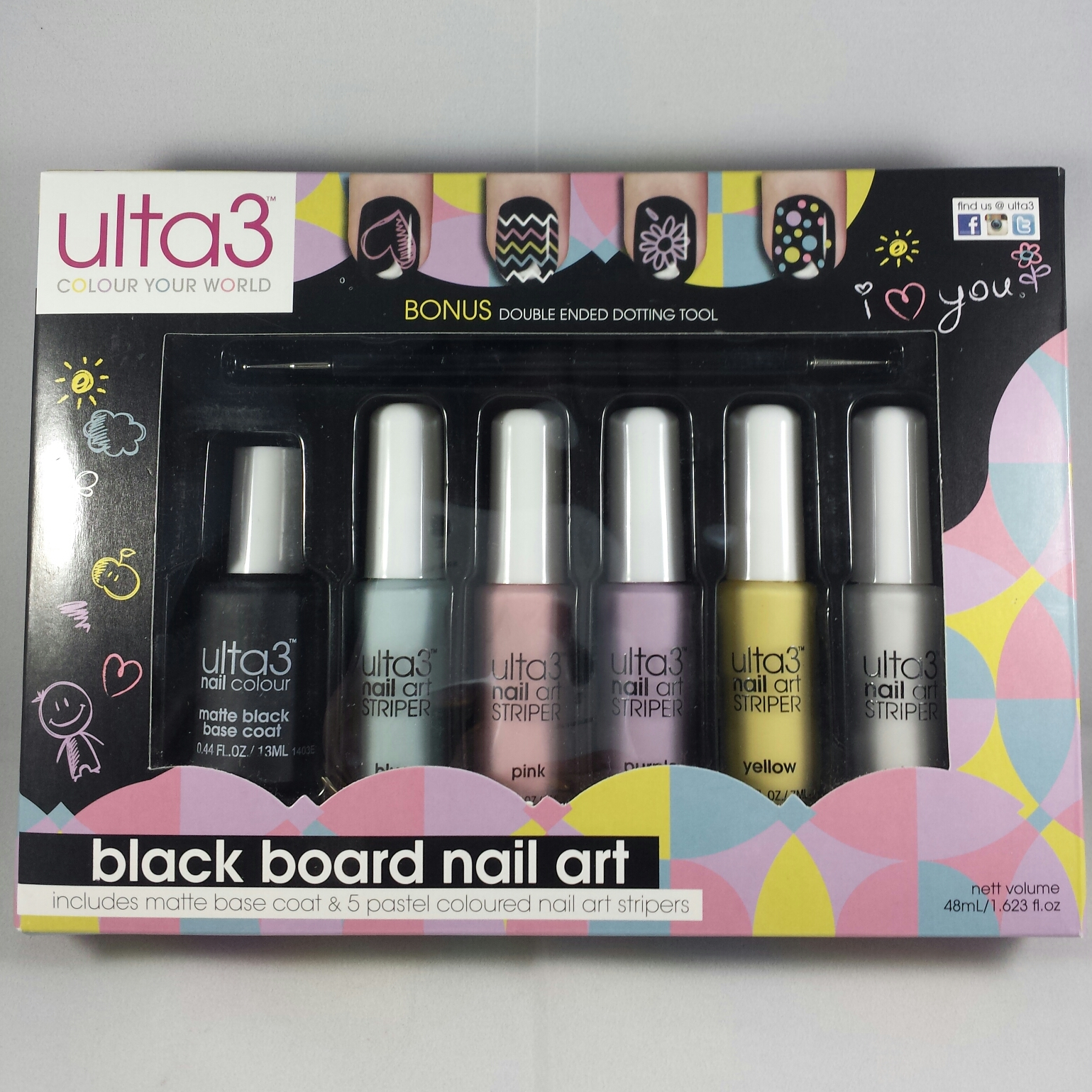Ulta3 Black Board Nail Art | Bab\'s Nails Blog